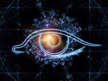 Eye of digits Stock Images