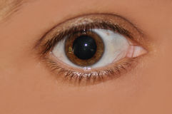 Eye with dilated pupil Royalty Free Stock Photos