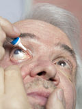 Eye disease treatment. Examination and treatment of patients with cataract and glaucoma eyes Stock Photos
