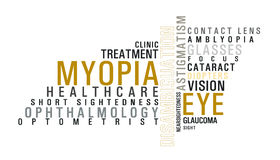 Eye disease word cloud Stock Photo