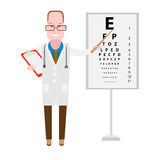 Eye doctor. Illustration of a doctor on a white background Stock Images