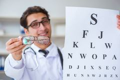 The eye doctor in medical concept. Eye doctor in medical concept royalty free stock photo