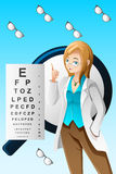 Eye doctor. A vector illustration of eye doctor Stock Photography