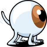 Eye Dog. An eye is an abstract dog and he's looking for something Stock Image