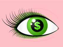 Eye dollar Stock Images