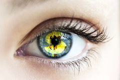Eye with dollar sign Stock Photo
