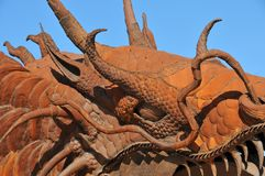 Eye of the Dragon Metal Sculpture at Anza Borrego Desert Califor. Eye of the Dragon metal sculptures in the Anza Borrego Desert. Sculptures are public art royalty free stock images