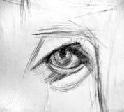 Eye Drawing Royalty Free Stock Photo