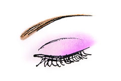 Eye Drawing Royalty Free Stock Photography