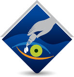 Eye drops logo. Illustration art of a eye drops logo with isolated background Stock Image