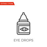 Eye Drops Vector Icon Stock Image