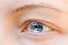 Eye and Earth Stock Photo