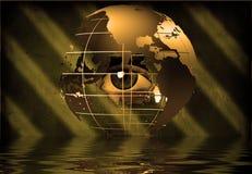 Eye through earth Stock Photo