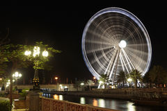 Eye of the Emirates - ferris wheel in Al Qasba in Shajah, UAE Royalty Free Stock Images
