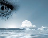 Eye en el cielo Fotos de archivo