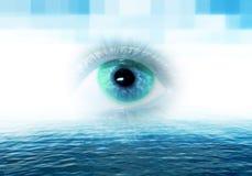 Eye en tecnología fotografía de archivo libre de regalías