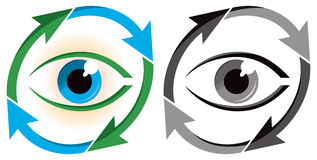 Eye Environment Logo Stock Photos