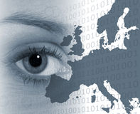 Eye on europe Royalty Free Stock Photos