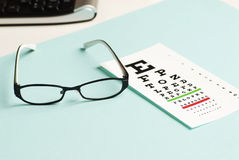 Eye exam chart Royalty Free Stock Photos