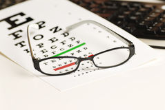 Eye exam chart Royalty Free Stock Photography
