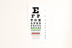 Eye exam chart Stock Photos