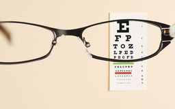 Eye exam chart Stock Images