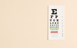 Eye exam chart Stock Photo