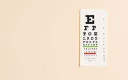 Eye exam chart Stock Photo