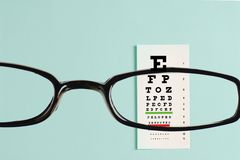Eye exam chart Royalty Free Stock Image