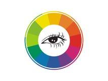 Eye exam icon Stock Image