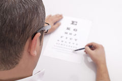 Eye Exam Royalty Free Stock Image