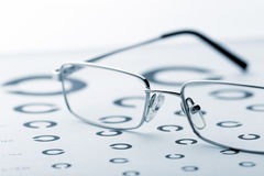 Eye examination chart Stock Photography