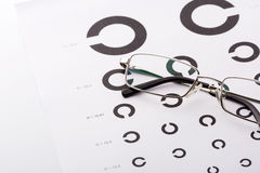 Eye examination chart Stock Images