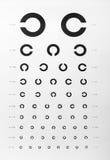 Eye examination chart Stock Photography