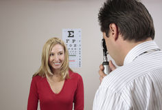 Eye examination checkup Royalty Free Stock Photo