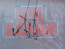 Eye Exams in Neon Stock Photos