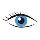 Eye with eyelashes. Blue eye with eyelashes isolated on white. Health, eyesight, search, vision concept. EPS 8 vector illustration, no transparency