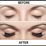 EYE AND FALSE EYELASHES Stock Images