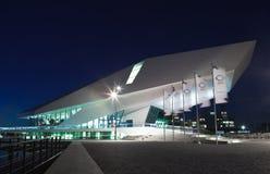 EYE Film Institute Netherlands. Modern building, night scene Stock Image