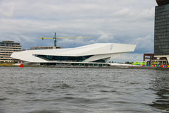 EYE Film Institute and Overhoeks Tower in Amsterdam, Netherland Royalty Free Stock Photo