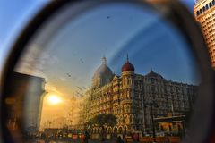 Eye of the Financial Capital. Gateway of India, Mumbai, India. royalty free stock image