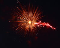 An Eye of fire. The great eye of fireworks royalty free stock image