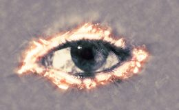 Eye on fire Royalty Free Stock Images
