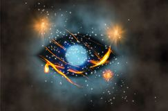 Eye. Fire space Stock Image