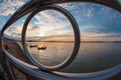 The Eye of the Fisheye Royalty Free Stock Photography