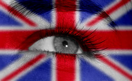 Eye with flag Royalty Free Stock Images
