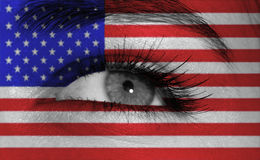 Eye with flag Royalty Free Stock Photos