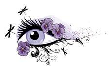 Eye, floral, beautiful, spring Stock Photo