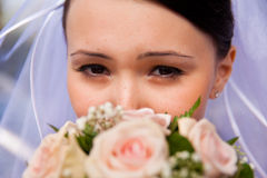 Eye and flower Royalty Free Stock Photos