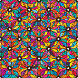 Eye flower colorful symmetry seamless pattern Royalty Free Stock Photography